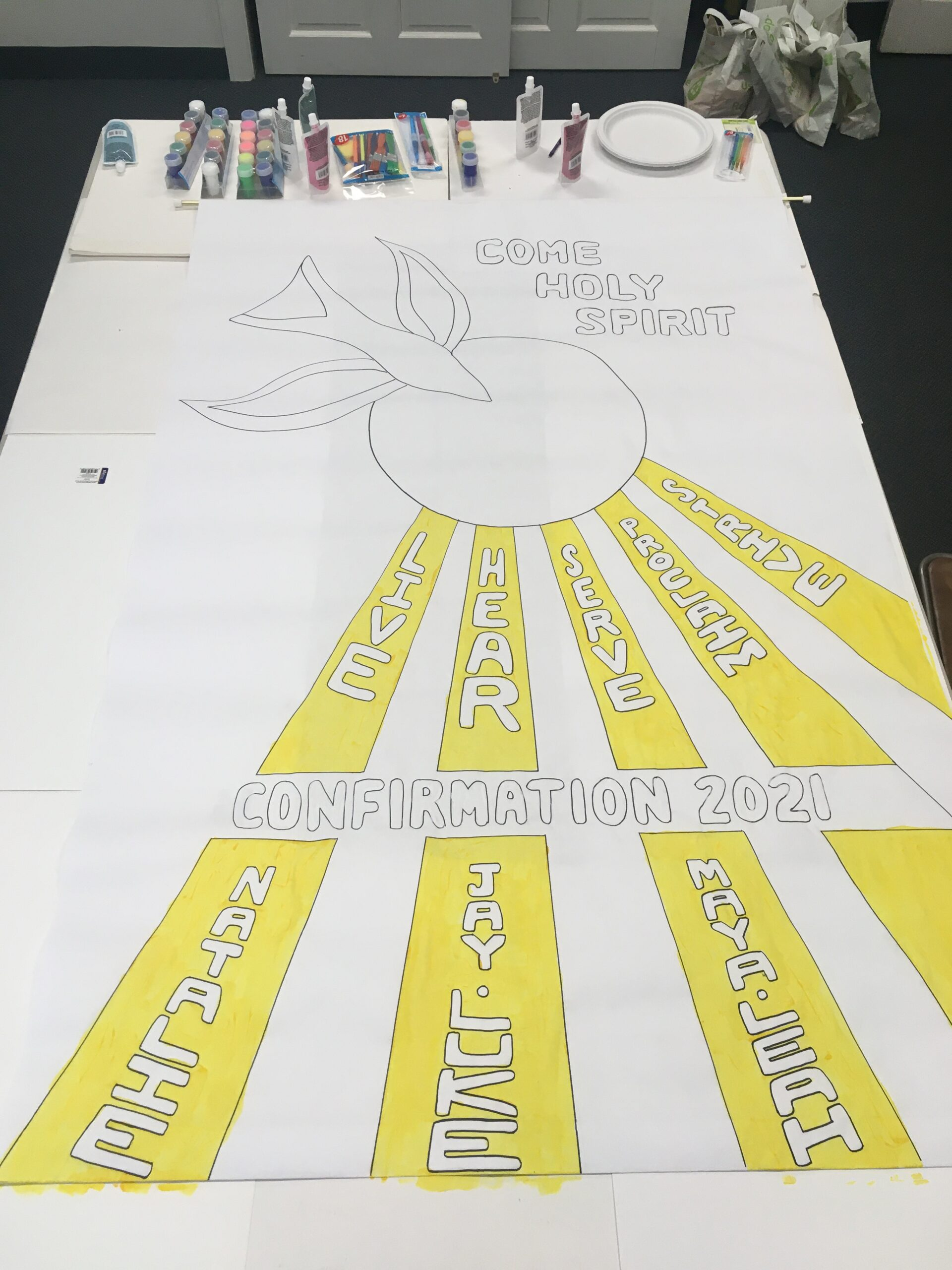 Fly – Confirmation Banner Making & Rehearsal